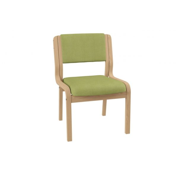 BANKETT - Stackable chair without armrest