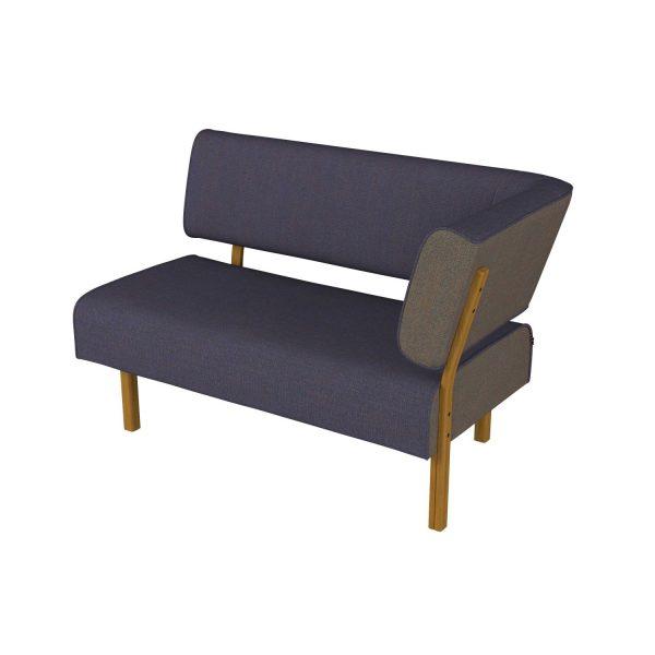 LEAN - 2-seter med rygg og armlen på høyre side