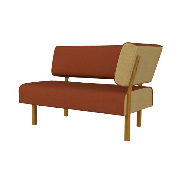 LEAN - 2-seater with back and armrest left side