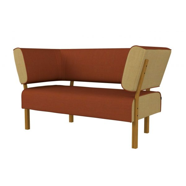 LEAN - 2-seater with back and armrest both sides