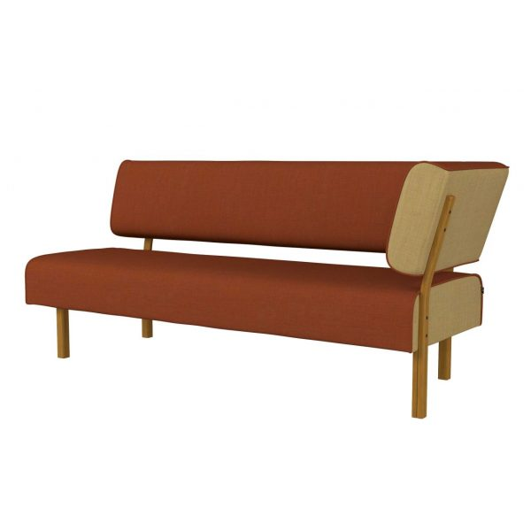 LEAN - 3-seater with back and armrest left side