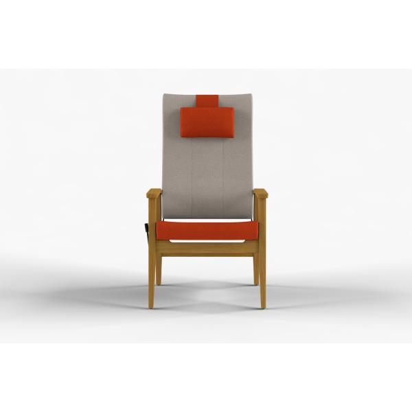NEXUS - Stol høy rygg, nakkepute, trinnløs regulering