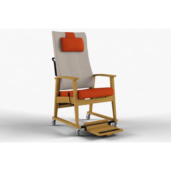 NEXUS - Trillestol høy rygg, nakkepute, trinnløs regulering, håndtak, fotplate