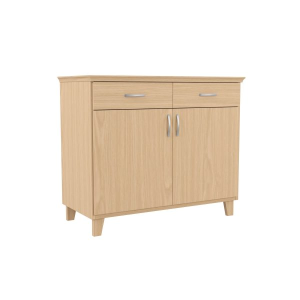 SELMA - Lower cupboard, 84x98x46 cm, with 2 doors and 2 drawers, birch