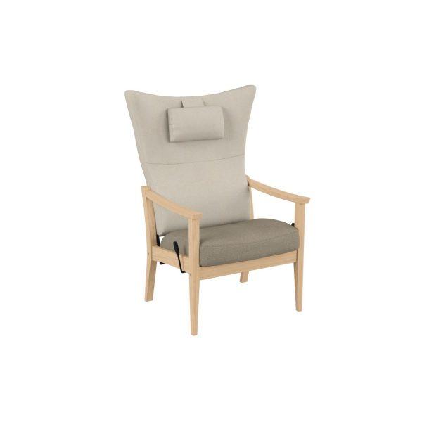 SALINA - Høy stol med vipp, åpen vange