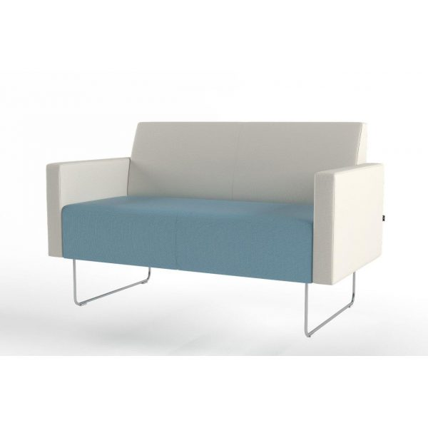 Pivot 2-seater with low armrest