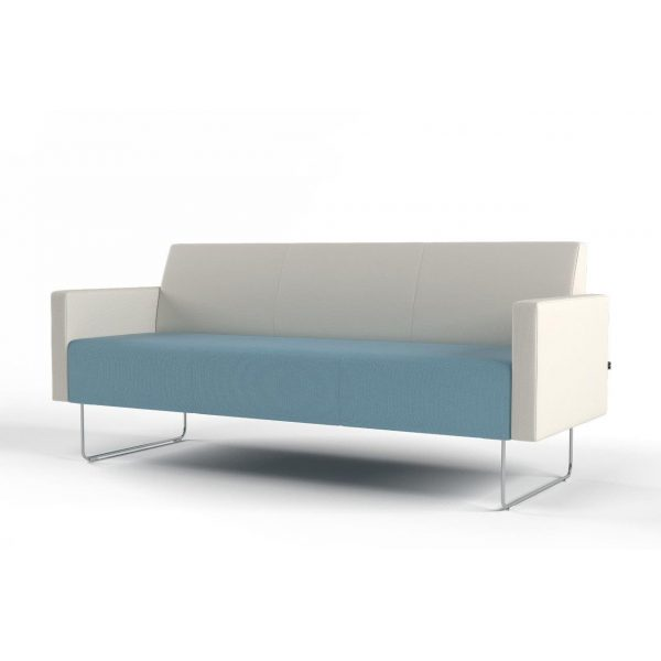 Pivot 3-seater with low armrest