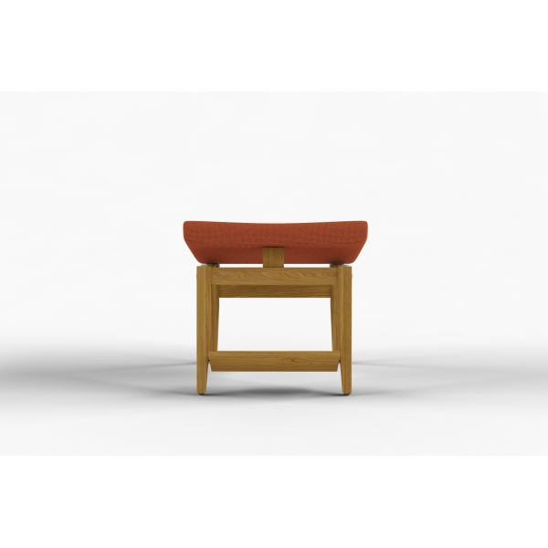 NEXUS - Stool with adjustable cushion and moveable foot rest