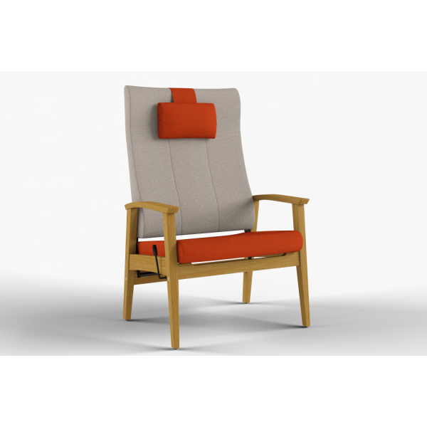 NEXUS - Max stol høy rygg, nakkepute, trinnløs regulering