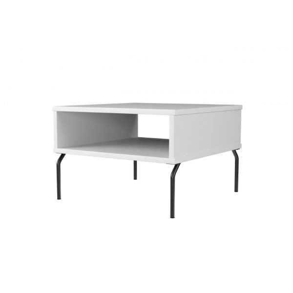 Pivot cube table 65x65 cm with tube legs