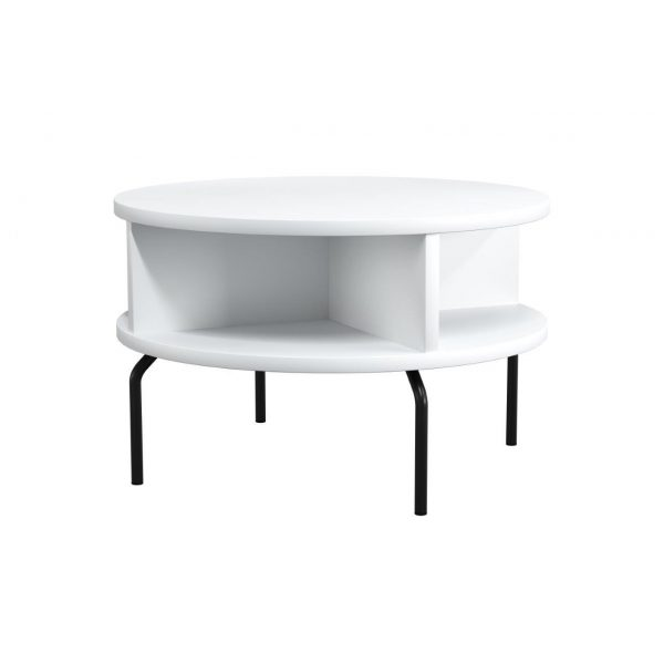 Pivot cube table round Ø68 cm with tube legs
