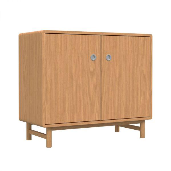 SOFT - Sideboard, 84x98x45, two doors, oak