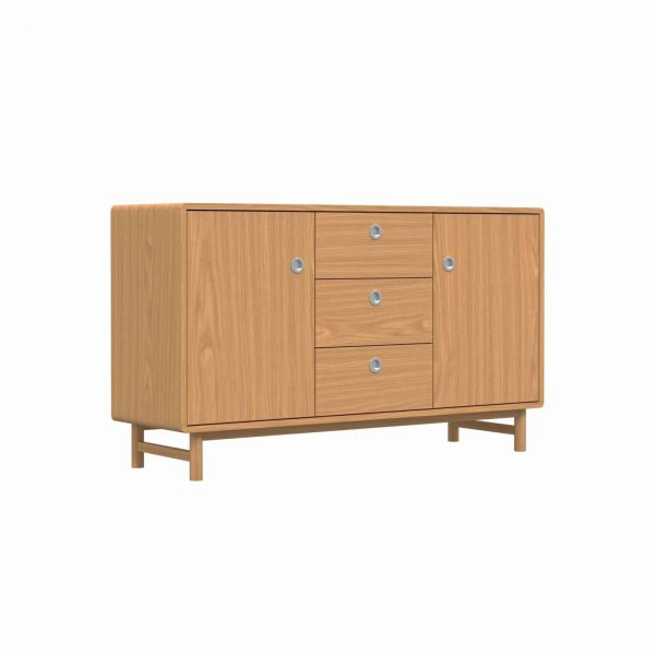 SOFT - Sideboard, 84x145x45, two doors and three drawers, oak