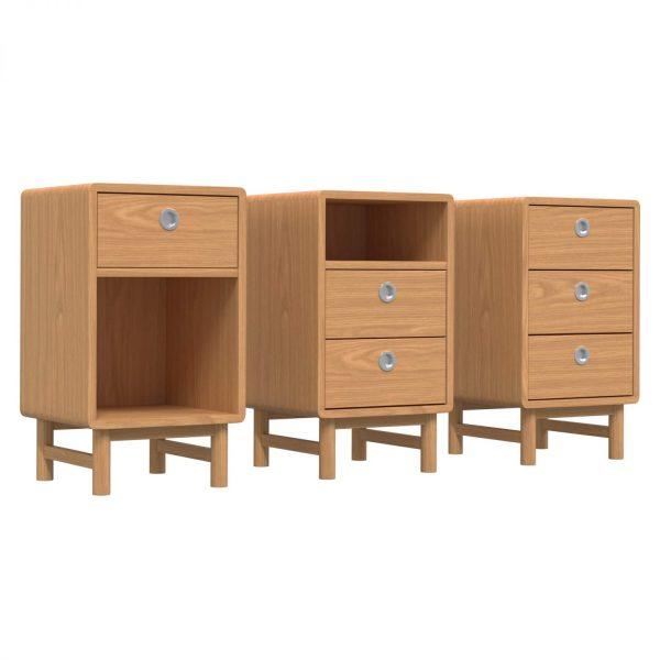 SOFT - Bedside table, 70x40x40, oak