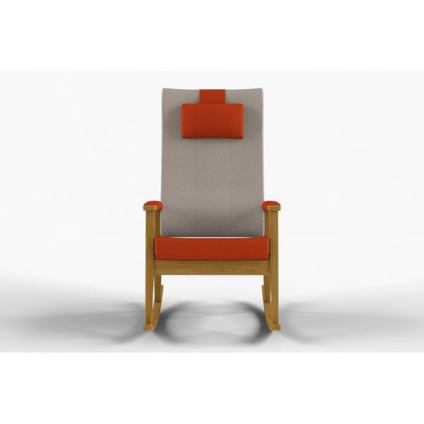 NEXUS - Rocking chair, high back, fixed, neck rest