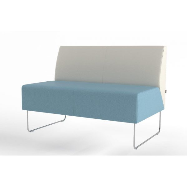 Pivot 2-seater without armrest