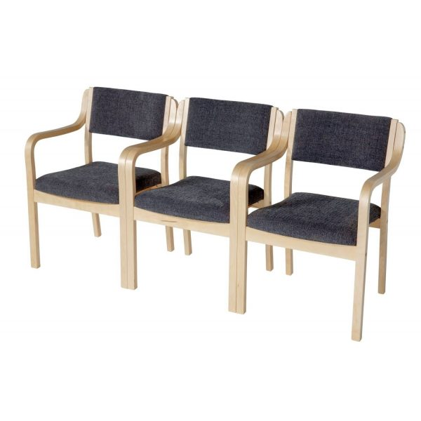 BANKETT - Stackable chair with armrest