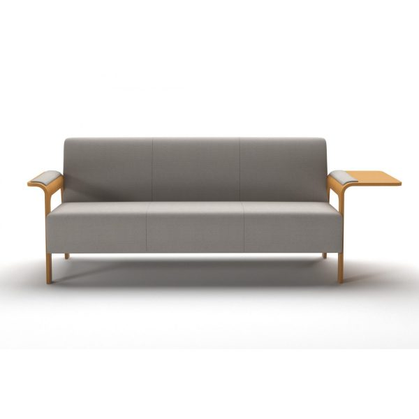 ICI - 3-seater element with armrest/leg and side table