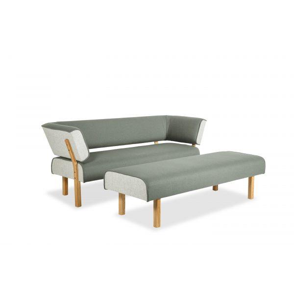 LEAN - 3-seter med rygg og armlen på begge sider & 3-seter uten rygg