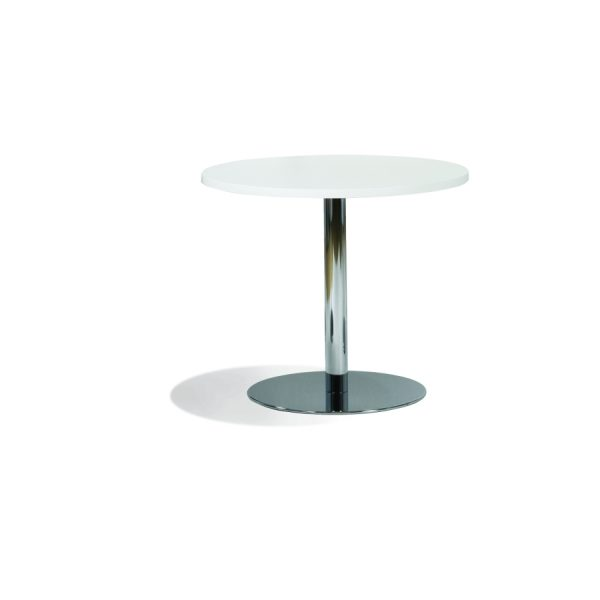 ALFA - Hvit bordplate med understell i krom
