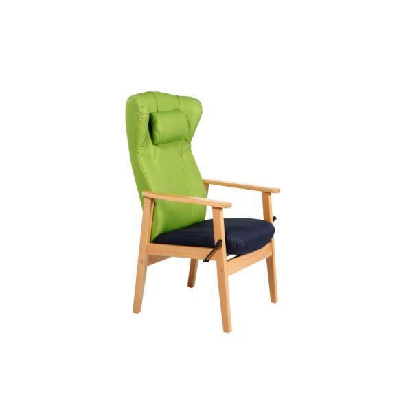DELTA II - Høy stol med nakkepute og vipp