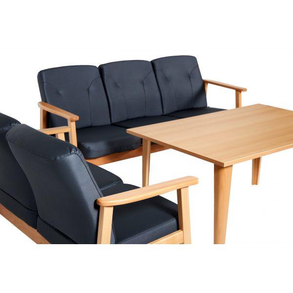 DELTA II - sofagruppe i skinn