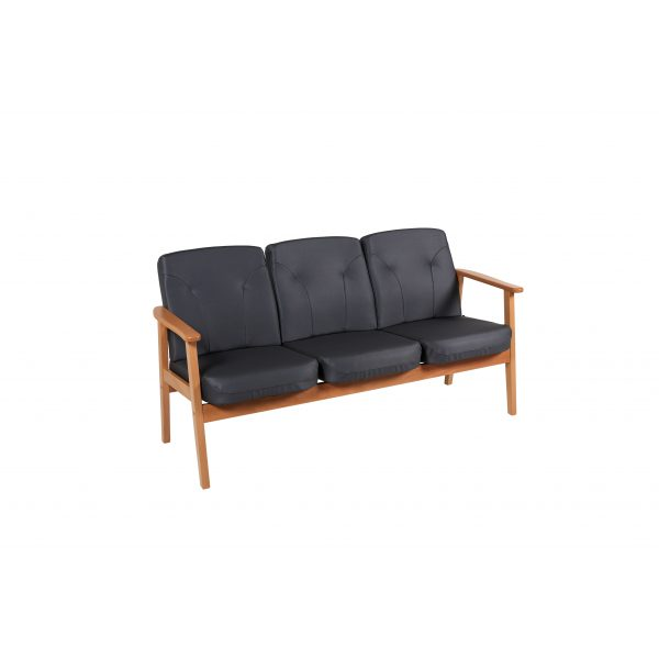 DELTA II - 3-seter sofa i skinn
