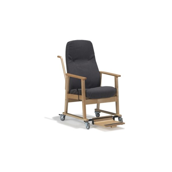 DELTA II - Trillestol høy standard med fotbrett og håndtak